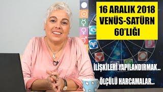 16 Aralık 2018 Venüs ve Satürn 60 derecelik açısının etkileri