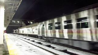 2018年1月10日(水) IRいしかわ鉄道線 貨物列車(EF510-9・8561レ・JR東日本GV-E400系・甲種輸送) 津幡駅 通過動画!!!