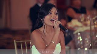 The Most Touching Wedding songs Bride sings to groom at wedding. Filmed by LifeStory.Film
