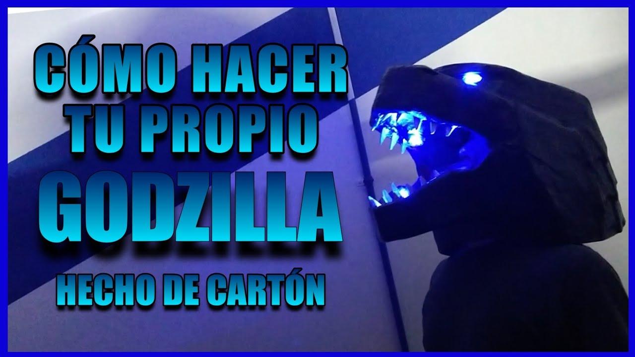 Cómo Hacer tu Propio GODZILLA de CARTÓN - DIY - Cabeza de Godzilla