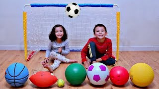 Learn The Names of Sport Ball with Indoor Fun for Children
