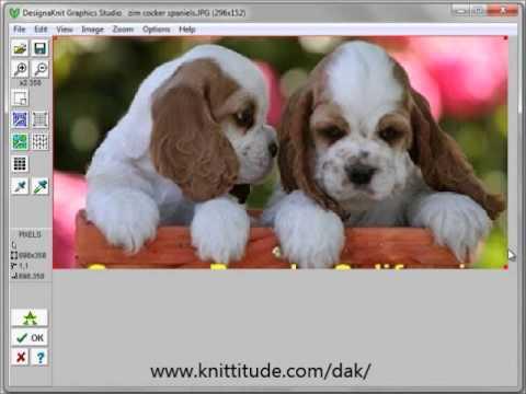 Designaknit 8 Tutorial Convert A Photo Into A Stitch Pattern Youtube