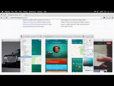 Design an app interface using Sketch