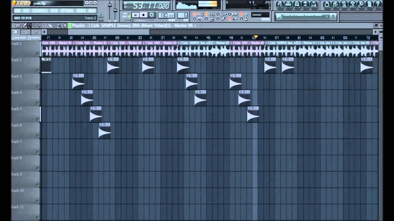 fl studio J Cole January 28th sample chops - YouTube