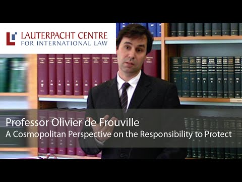 A Cosmopolitan Perspective on the Responsibility to Protect: Olivier de Frouville