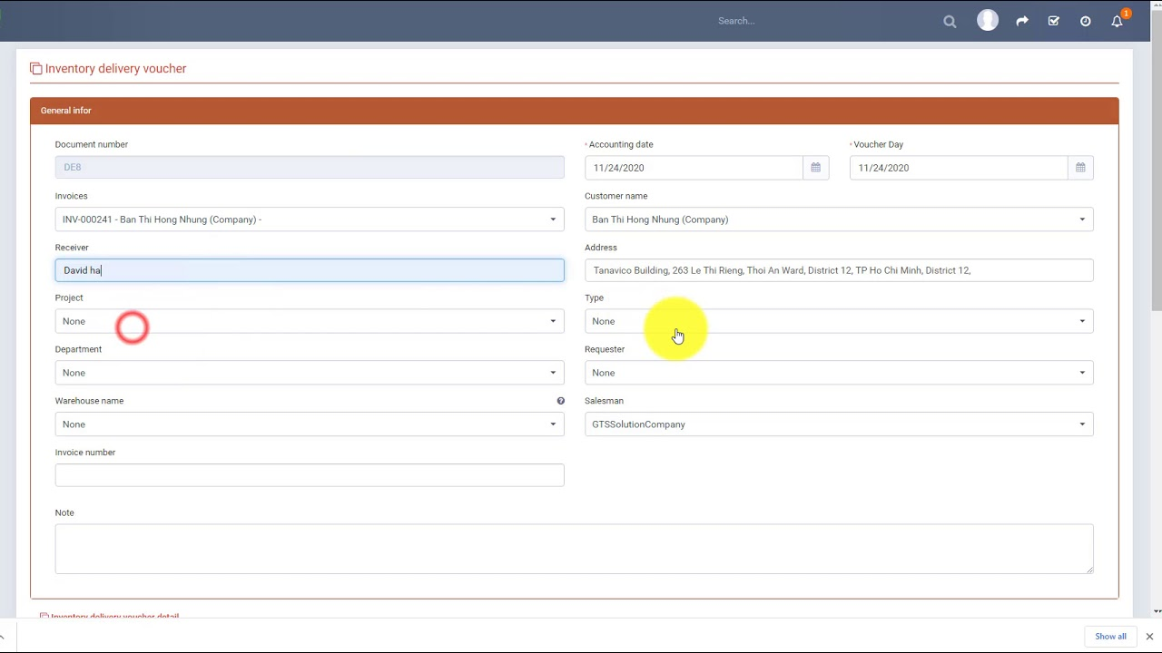 Perfex CRM Modules - Inventory Management - Inventory delivery create from invoices Null