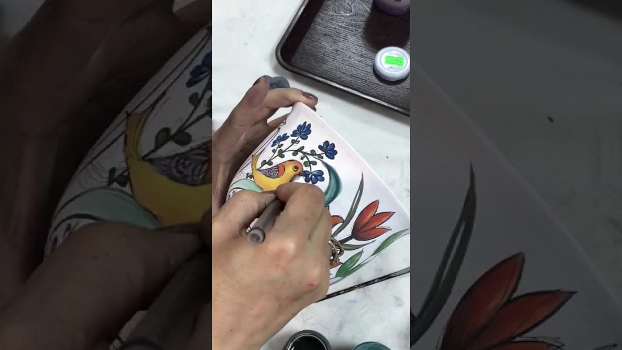 çini Boyama Teknikleri3 Youtube