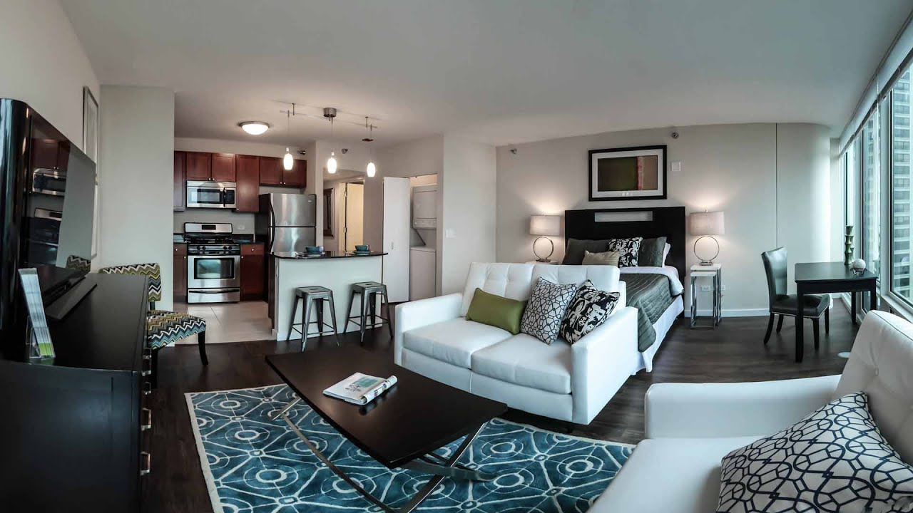 Tour a luxury studio model at Atwater apartments - YouTube
