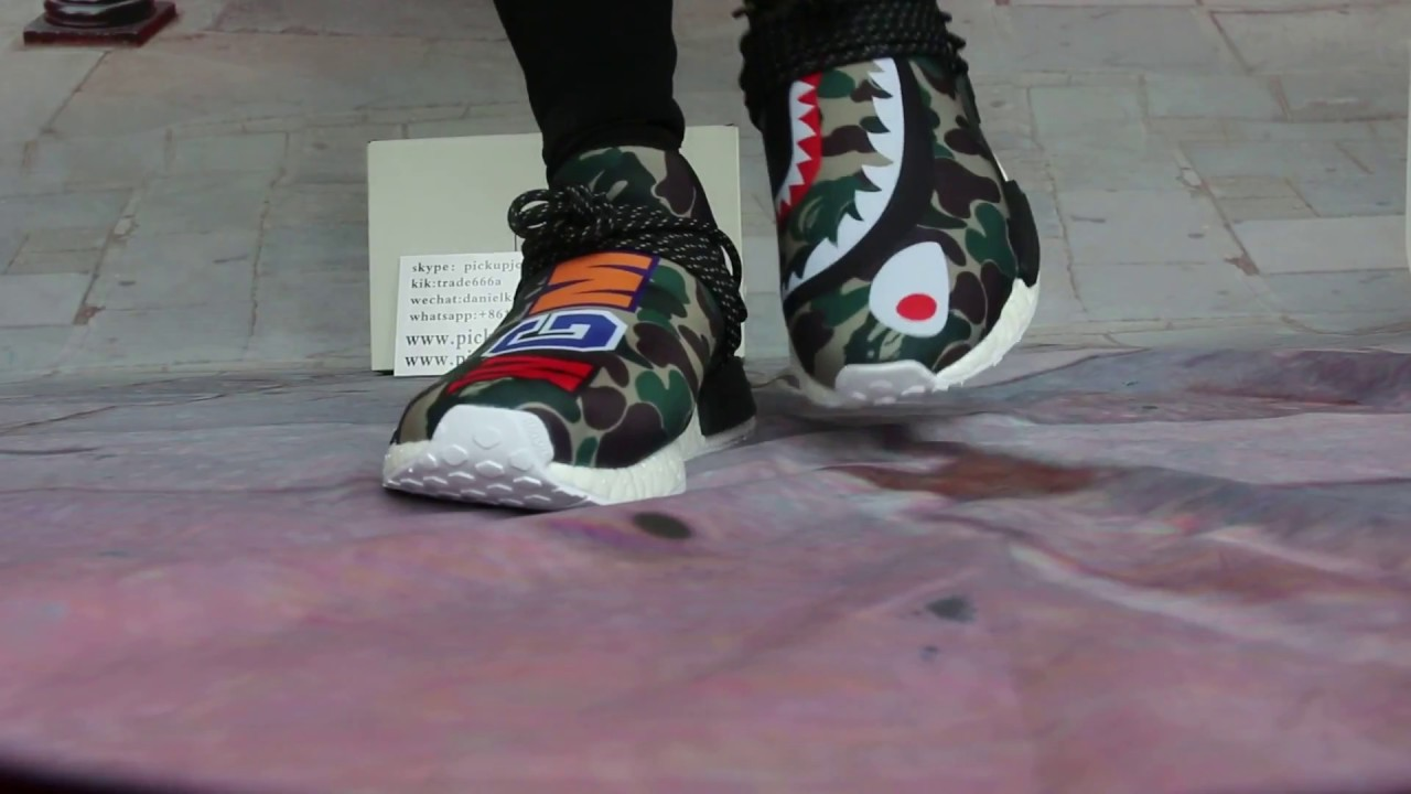 Adidas Human Race NMD Bape Custom Made On Feet HD Review