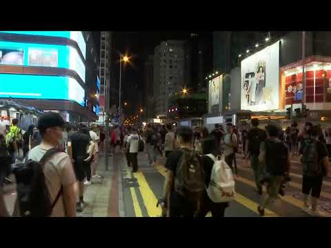 Live Now Hong Kong Politics   HK protesters march to West Kowloon subway station