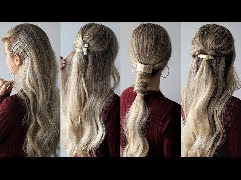 HOW TO: EASY Hairstyles with HAIR CLIPS 🌹 Medium Hair Hairstyles