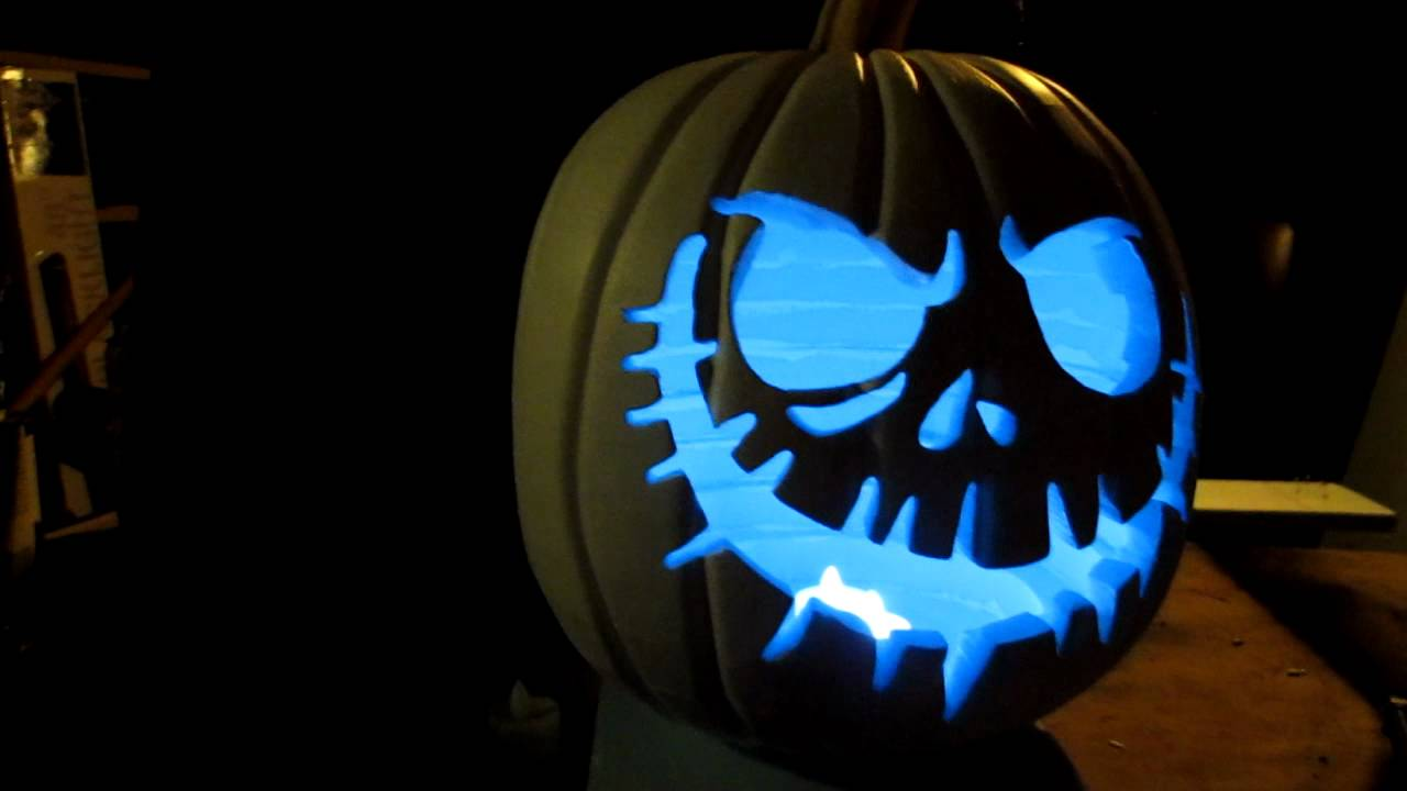 Diy foam pumpkin lighting test youtube