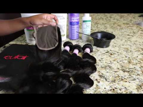 HOW TO BLEACH THE KNOTS ON A LACE CLOSURE