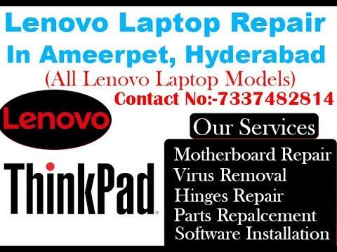 Loose / Broken hinges repair of Lenovo laptop in Ameerpet, Hyderabad. - DurgaiT solutions.