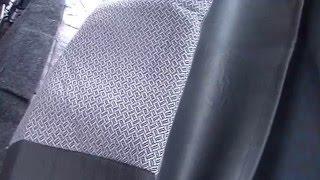 видео Чехол ВАЗ-2114 (ЭКОкожа + перфорация) чёрный чемодан