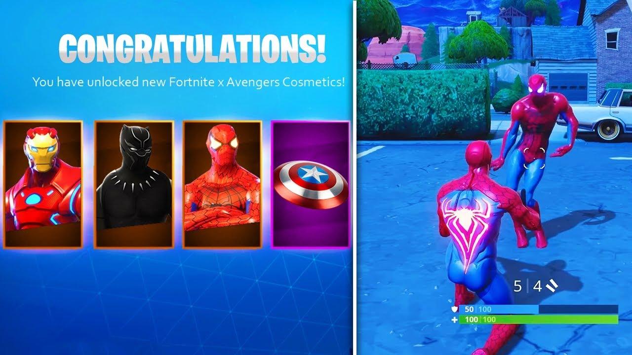 *new* fortnite avengers cosmetics & rewards! (fortnite x