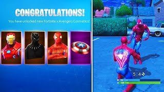 *NEW* Fortnite Avengers COSMETICS & REWARDS! (Fortnite x Avengers Event)