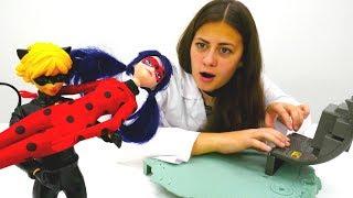 #ЛедиБаг упала с крыши! #СуперКот игрушки #МультикиДляДетей Больничка