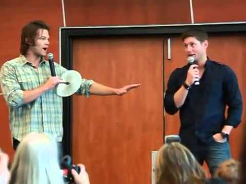 Supernatural breakfast panel with Jensen and Jared Super funny!!