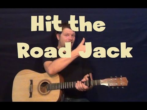 Hit The Road Jack (Ray Charles) Easy Guitar Lesson Strum Chord How ...