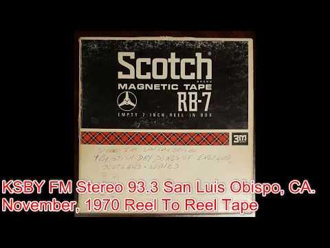 KSBY FM Radio 93.3 San Luis Obispo, CA November, 1970 Scotch Reel To Reel Tape
