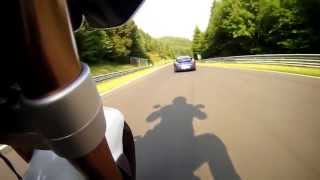 Onboard Bike Chasing Porsche GT3 around the Nurburgring Nordschleif Touristenfahrten HD 9/7/2013(Two freinds having fun around 'The Green Hell', 2013-07-13T16:26:31.000Z)