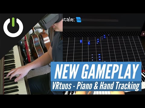 Learning Tetris on Piano with Oculus Quest Hand Tracking - VRtuos app (Pavel Marceluch)