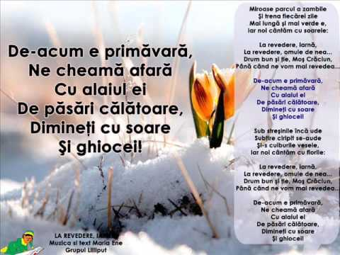 LA REVEDERE, IARNĂ! – Cantece pentru copii in limba romana