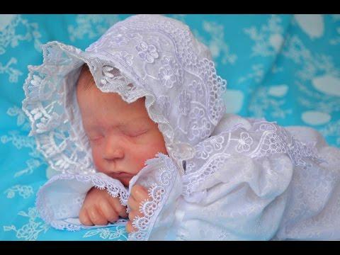 Детский комплект  соня  . Платье , шапочка, пинетки.