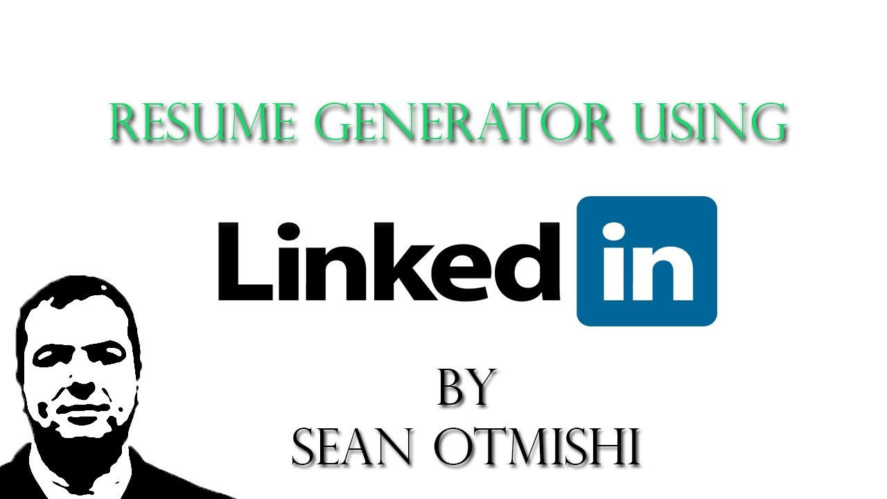 how to create a quick resume using linkedin youtube