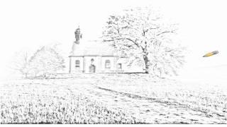 Auto Draw 2: Chapel On The Hill, Franconia, Bavaria, Germany