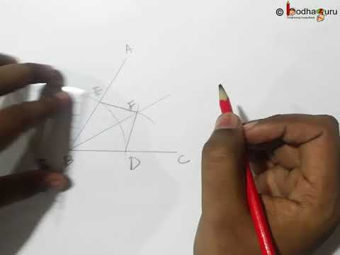 Geometry Construction – How to bisect an angle – English