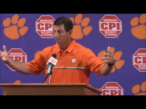 Dabo Swinney - On Kaepernick - I hate to see what is going on in our country