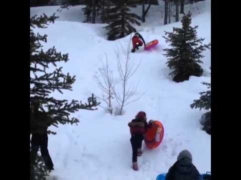 Rihanna in the Snow Aspen 2014