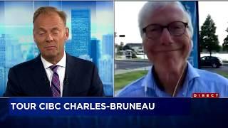 Tour Charles Bruneau  2e journée sous le signe de la chaleur  entrevue avec Pierre Bruneau
