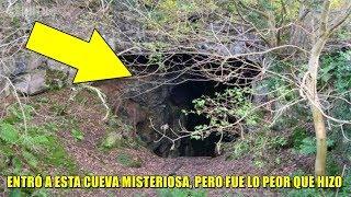 Hombre encuentra una cueva oculta en su propiedad, y se asusta cuando entra.