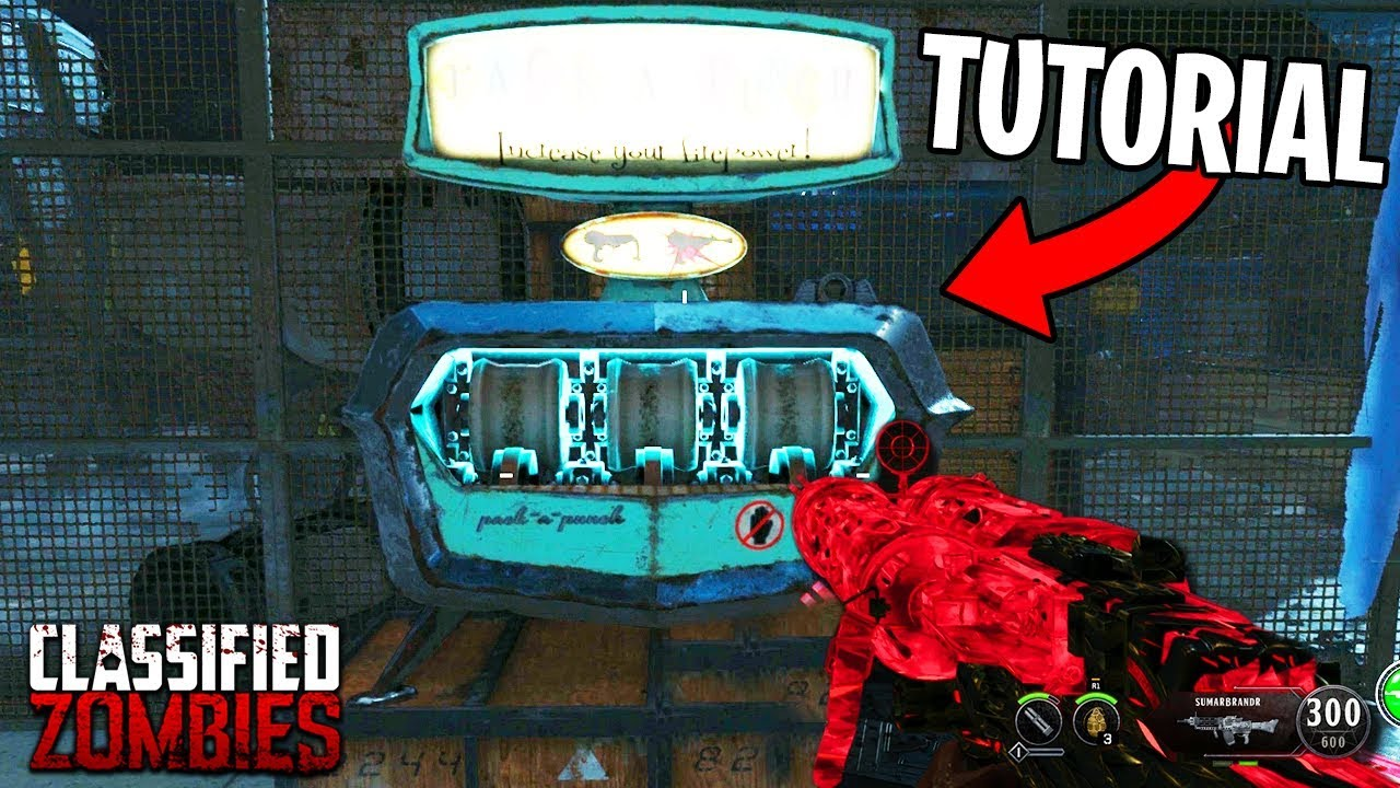 How To PACK A PUNCH On CLASSIFIED Tutorial Black Ops 4 Zombies Gameplay PAP Parts Guide