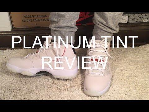 JORDAN 11 PLATINUM TINT REVIEW/ UNBOXING/ ONFOOT