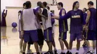 Lakers Fight in Practice! (Mbenga vs Mihm) streaming