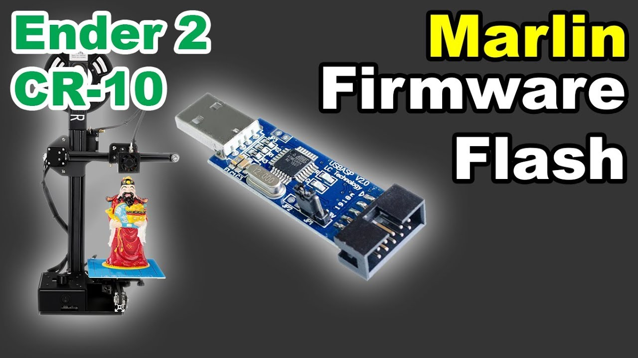 Creality Ender 2 CR-10 Marlin Firmware flash upgrade