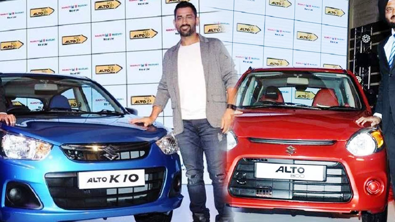 MS Dhoniinspired Special Edition Maruti Alto And K Launched - Car body graphics for altomaruti altobrowzer features and price in india