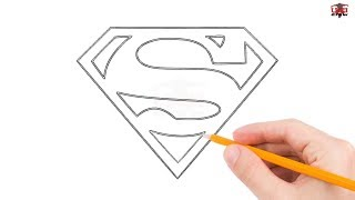 How to Draw Superman Logo Step by Step Easy for Beginners/Kids – Simple Superman Drawing Tutorial