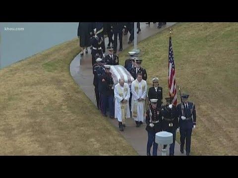 President Bush laid to rest in College Station