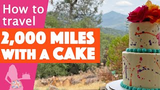 How to Transport a Cake 2000 Miles by Car and Airplane
