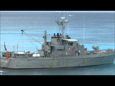 Mexican Navy ship in Cozumel