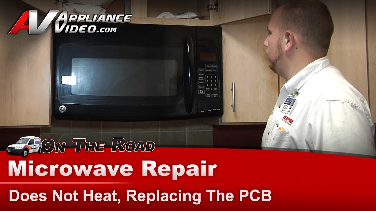 ge hotpoint microwave repair does not heat replacing the pcb ge