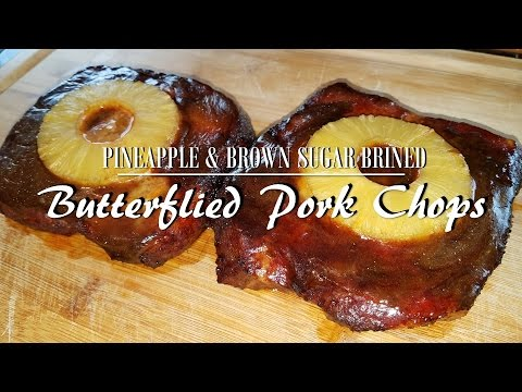 Brown Sugar Brined Pineapple Pork Chops | Rec Tec Pellet Smoker