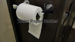 Modern Toilet Paper Holder In Chrome Custom Installed Unlike Recessed Or Free Standing Roll Holders