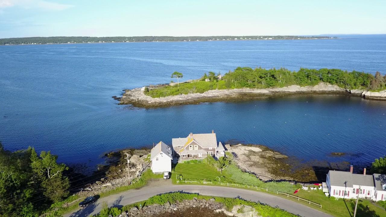 Christmas Cove Maine Raw Drone Footage