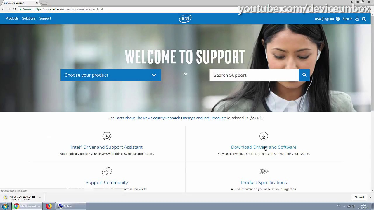 Intel Support